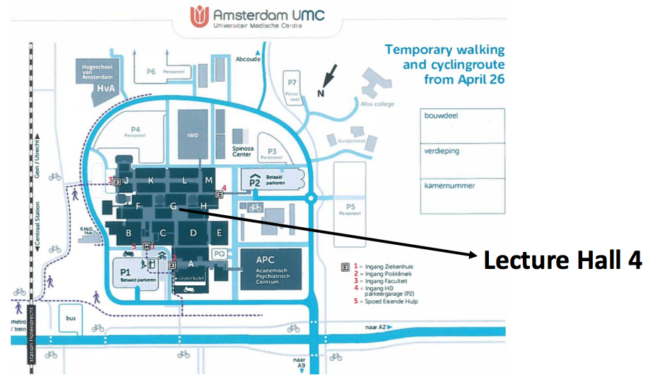 Lecture Hall Map
